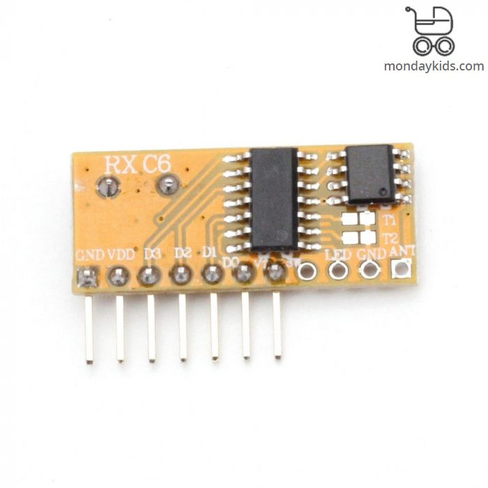 Monday Kids RXC6 433Mhz Superheterodyne Wireless Receiver Module With  Learning Code Mode