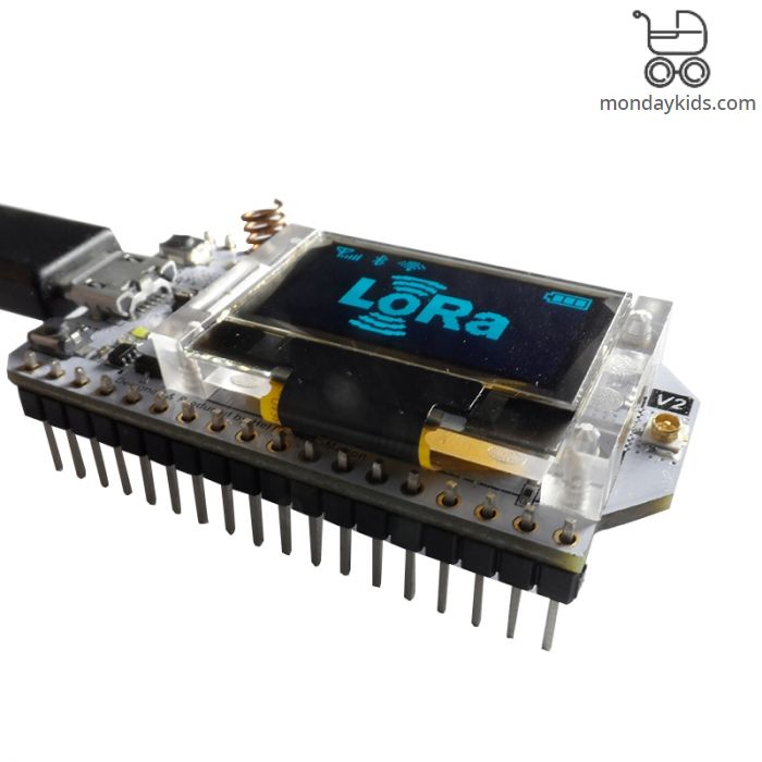 Monday Kids LoRa ESP32 0 96 Inch Blue OLED Display SX1278 Bluetooth WIFI  Lora Kit 32 Module Internet Development Board for Arduino w/Antenna
