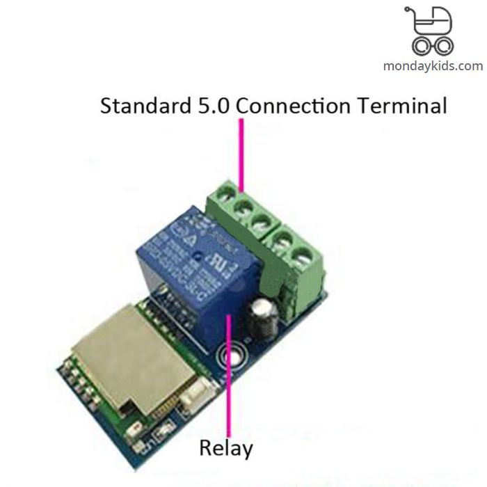 Monday Kids DC 12V Wireless Wifi Relay Switch Module Mobile Phone Remote  Control Timer Jog Mode Low Power For Android IOS Smart Home