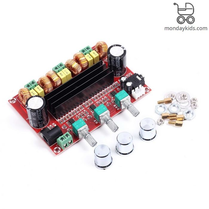 Monday Kids TPA3116D2 Digital Subwoofer Amplifier Board DC12V-24V 2x50W  100W XH-M139 2 1 Channel Digital Power Amplifier for DIY Audio