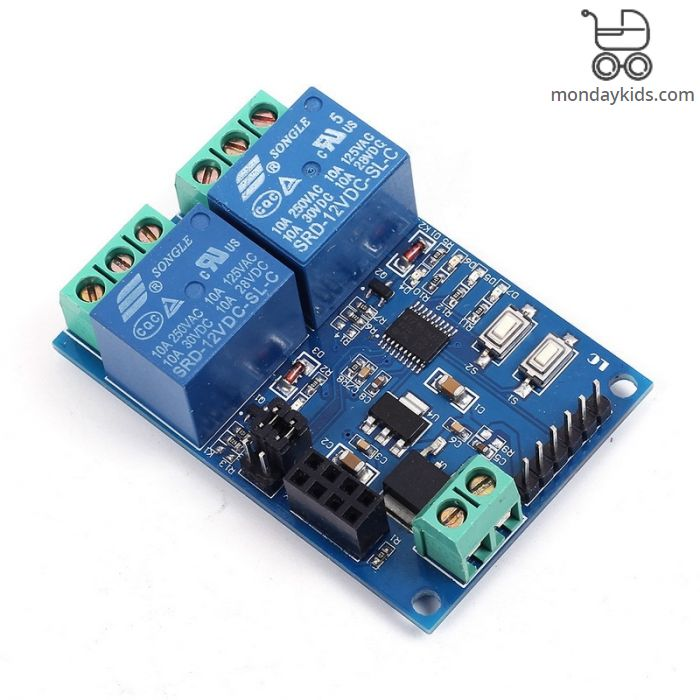 Monday Kids 12V WIFI Relay Module ESP8266 IOT APP Remote Controller  2-Channel For Smart Home mobile Phone Automation Board Dual WiFi Module