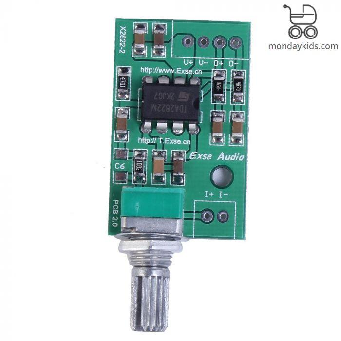 Monday Kids TDA2822M Mini Mono Audio Amplifier Board 2W BTL Amplifier  Module Volume Adjustable Single Power 3V 5V 9V