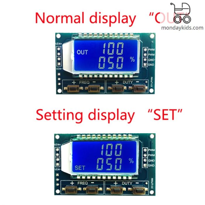 Monday Kids Signal Generator LCD Display Module Output PWM Pulse Frequency  Duty Cycle Adjustable Display Modules 1Hz-150Khz 3 3V-30V TTL