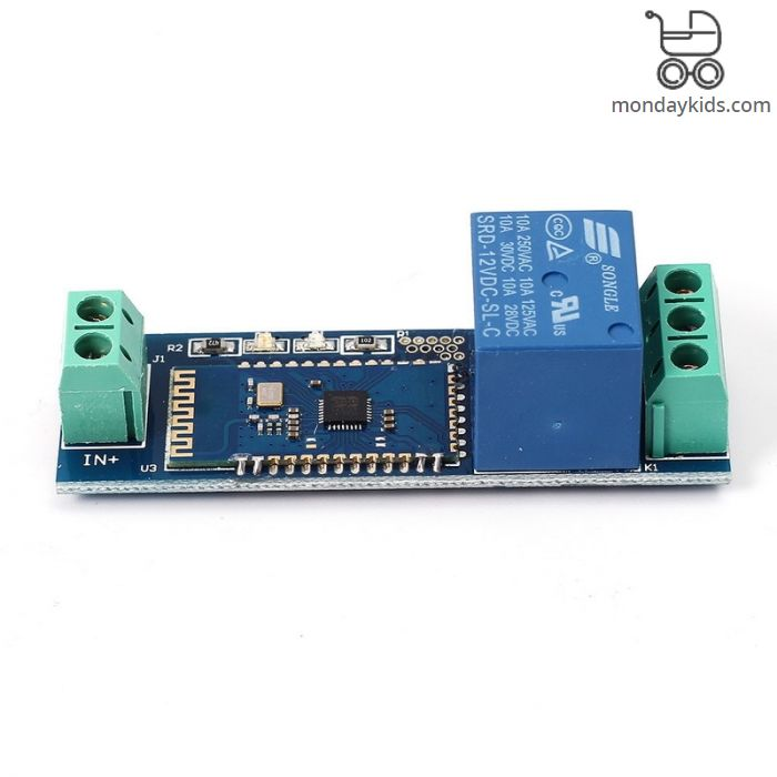 Monday Kids Smart Bluetooth Relay Module Remote Control Switch 12V IOT  Wireless Module Mobile Phone Bluetooth Remote Control Switch Internet