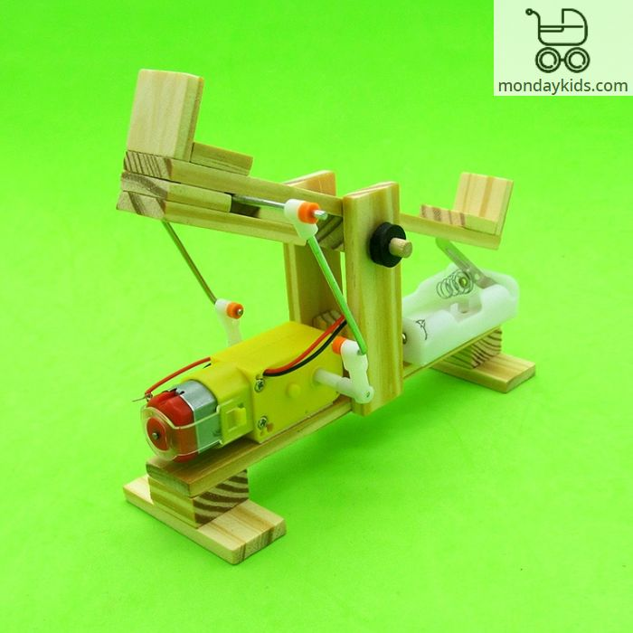 Monday Kids Diy Electric Seesaw Model Kit Science Experiment Toys Fo Kids Boys Creative Cool Educational Learning Gift Wooden