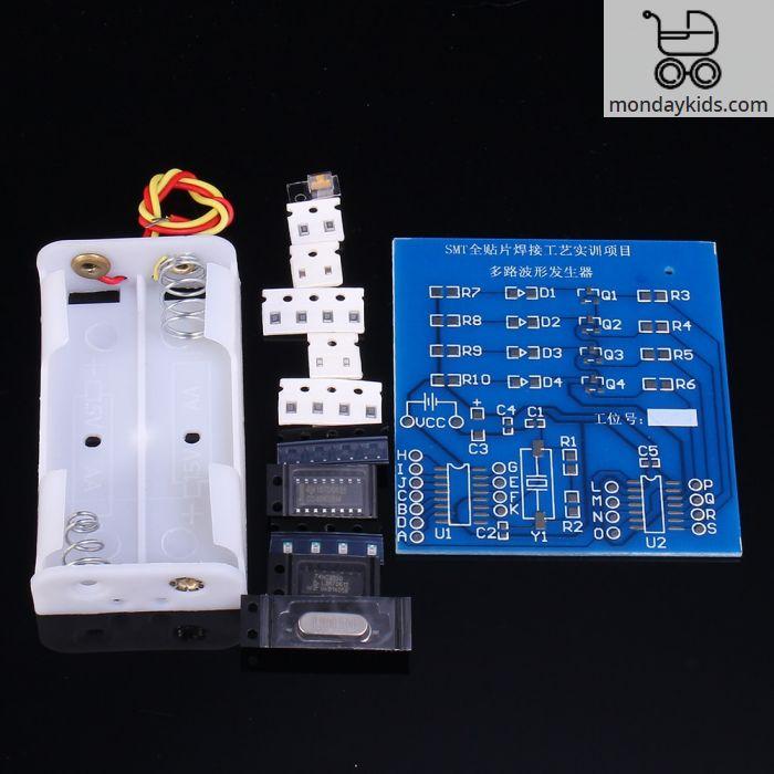 Monday Kids SMT Full SMD Multi-Channel Waveform Generator Suite SMD Weld  DIY Kits Solder Testing Electronic Circuit Training Parts