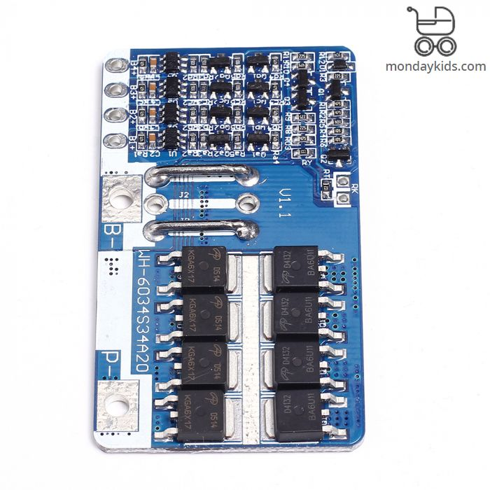 Monday Kids 14 4V 20A LiFePo4 18650 BMS 4S PCM Lithium Iron Phosphate  Battery Protection Board Li-ion Cell Charge Discharge Protect Module