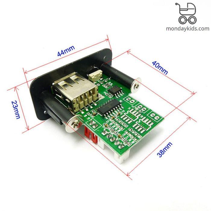 Monday Kids Mini 5V MP3 Decoder Board 3W*2 Decoding Module MP3 WAV U disk  TF Card USB Amplifier Speaker Audio Board With Remote Control Wire