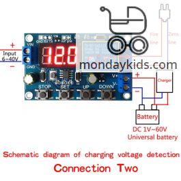 Monday Kids DC 6-40V Battery Charger Discharger Board Undervoltage  Overvoltage Protection Board Module Precision Auto Off Module Discharger