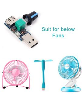 Monday Kids DC 4V-12V 5W XY-FS USB Fan Stepless Governor USB Fan Speed  Controller Multi-Gear Auxiliary Cooling Tool