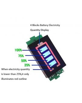 Monday Kids 1s Single 3 7v Lithium Battery Capacity Indicator Module 4 2v Blue Display Electric