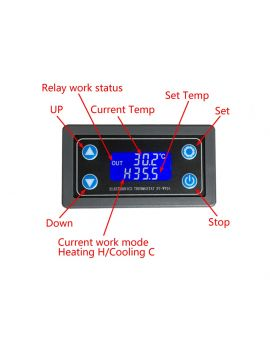 Monday Kids 10A Thermostat Digital Temperature Controller DC 6V-30V Thermal  Regulator Thermocouple Thermostat LCD Display Sensor Relay