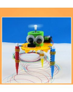 Monday Kids STEM Education - DIY Turn Around Automatically Drawing Robot