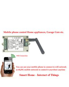 [New Release Version] Monday Kids Wireless Wifi Remote Control Switch Module For Android Phone and iPhone Smart Home Appliance Control Module – Supports 2G/3G/4G/5G Mobile Network