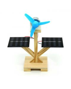 Solar Fan for Kids Made with DIY Wooden Kits
