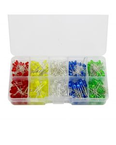 Monday Kids 100Pcs Light Emitting Diodes 5 Colors Electronic Components 3mm/5mm Assorted Color DIY LED Light Emitting Diodes