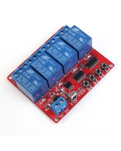 Monday Kids 12V 4 Channel IR Infrared Receiver Board Delay Relay Driving Module + 5-Key Remote Controller Self-Lock Interlock Inching Switch