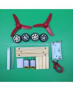 Monday Kids DIY Wind Power Car Model Wood Electric Science Experiments Kit Preschool Kindergarten Stem Education Toys for kids