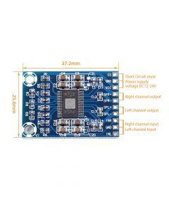 Monday Kids DC 12V-24V 2x50W Dual Channel Mini Digital Amplifier D Class 50W+50W TPA3116D2 XH-M562 Amplifier 50W Power Amplifier Board