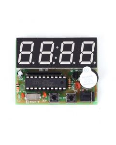 Monday Kids Accurate C51 Electronic Clock 4 Bits Clock Kit DIY Electronic DIY Kit LED Display Electronic Modules DIY Electronic Modules