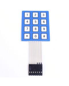 Monday Kids 3x4 Matrix Array Membrane Switch Keypad 12 Key Matrice 4X3 4X3 Keypad 3*4 Keys Display Switch Control Panel Keyboard DIY