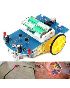 Monday Kids D2-1 DIY Kit Intelligent Tracking Line Smart Car Kit TT Motor Electronic DIY Kit Smart Patrol Automobile Parts DIY Electronic