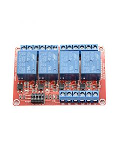 Monday Kids 12V 4 Channel Relay Module With Optocoupler Isolation Supports High and Low Trigger 4 Road Relay RM003
