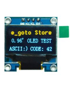 "Monday Kids 0.96 inch IIC Serial Yellow Blue OLED Display Module 128X64 I2C SSD1306 12864 LCD Screen Board GND VCC SCL SDA 0.96"" for Arduino"