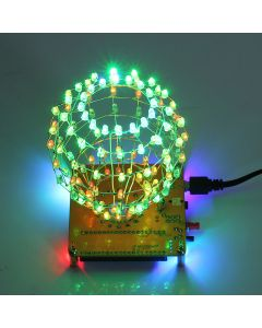 Monday Kids RGB LED Cubic Ball DIY Kit Colorful LED Light Cube Cubic Ball with Shell Creative Electronic Kit Remote Control