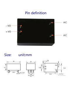 Monday Kids AC-DC Isolated Power AC 220V to 5V 600mA 3W Switch Power Supply Module Switch Step Down Buck Power Module