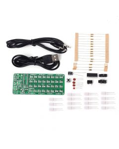 Monday Kids ASD-84 Audio Spectrum 8x4 RDIY Kit Level Indicator Voice Spectrum Lights Red+Blue Colorful Display DIY Kits DC 5V