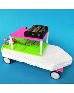 Monday Kids Kids DIY Science Experiment Amphibious Car Electric Boat Kit Fun Physics Toy School Project Boys Gift STEAM Education