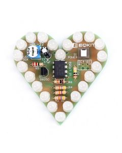 Monday Kids White DIY Heart Shape Breathing Lamp Kit DC4V-6V DIY Electronic Production DIY Kits Heart Shaped Lamp Suite Electronic DIY Kit
