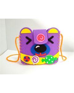 Monday Kids 10pcs/lot Kids EVA Foam Craft Kits Handmade DIY Bag Toy Backpack Educational Toys for Children