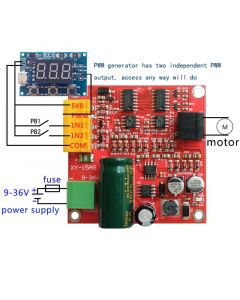 Monday Kids 6-36V 15A High Power DC Motor Driver Board Precise DC Motor Drive Plate Module PWM Speed Regulator Module Industrial Grade