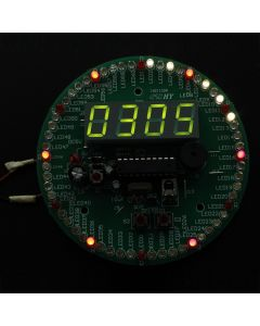 Monday Kids 4 Digital LED Tube Display Display DS18B20 Rotating Time Clock Alarm Temperature Module Kit DIY Kits w/IR Remote Controller