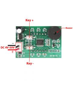 Monday Kids DC 4-50V XH-B115 DC Digital Alarm Voltage Meter High and Low Voltage Upper and Lower Limit Alarm Real-time Display Current