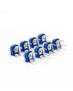 Monday Kids 10pcs RM065 RM-065 100 200 500 ohm 1K 2K 5K 10K 20K 50K 100K 200K 500K 1M ohm Trimpot Trimmer Potentiometer Variable Resistor