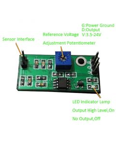 Monday Kids LM393 3.5-24V Voltage Comparator Module High Level Output Analog Comparator Control With LED Indicator