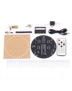 Monday Kids Colorful RGB Dream Light Circle LED DIY Kit Music Spectrum Module 5mm 8x32 Dot Matrix with Shell for Gift Light Cube DIY kit