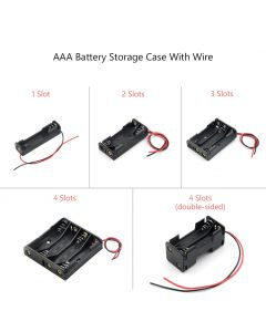 Monday Kids 1x 2x 3x 4x AAA Battery Box Case Holder With Wire Leads Side By Side Battery Box Connecting Solder For 1-4pcs AAA Batteries