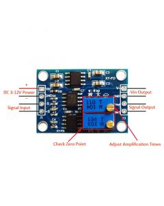Monday Kids AD620 High Precision uV/mV Microvolt Minivolt Voltage Amplifier Module Signal Amplifier Board DC 3-12V