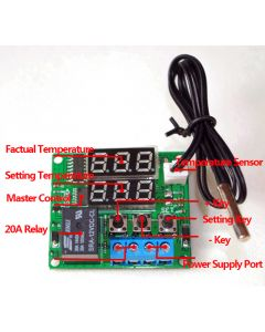 Monday Kids Red+Green 5V Digital Temperature Controller Module Thermostat Switch W/ NTC Waterproof Mini Temperature Sensor Control Board