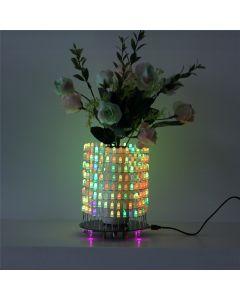 Monday Kids RGB LED Matrix Dream Light Circle DIY Kit Music Spectrum Module 8x32 Dot Matrix Electronic Fun LED Light Matrix DIY Electronic