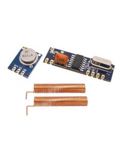 Monday Kids 433MHz 100 Meters Wireless Module Kit (ASK Transmitter STX882+ ASK Receiver SRX882 + 2Pcs Copper Spring Antenna)