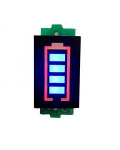 Monday Kids 4S 4 Series Lithium Battery Capacity Indicator Module 16.8V Blue Display Electric Vehicle Battery Power Tester Li-po Li-ion