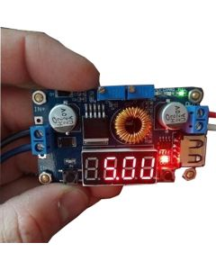 Monday Kids DC-DC 5A LED Drive Lithium Battery Charger Module with Voltmeter Ammeter LED Digit Display