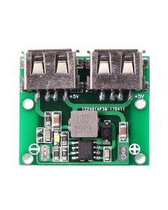 Monday Kids 9V 12V 24V to 5V DC-DC Step Down Charger Power Module Dual USB Output Buck Voltage Board 3A Car Charge Charging Regulator 6-26V