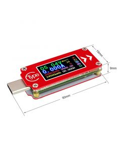 Monday Kids Type-C color LCD USB Voltmeter Ammeter Module Voltage Current Meter Multimeter Battery PD Charge Power Bank USB Tester Board