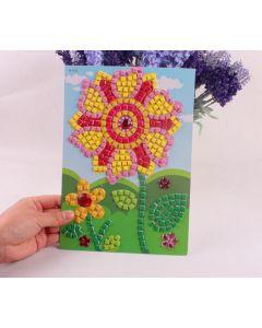 Monday Kids 5pcs/lot16.5*23.5cm Kids DIY handmade Cartoon Crystal Mosaic Art Stickers Puzzle Educational Toys for Child